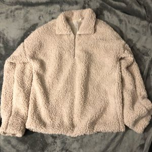 Cream Fluffy jacket